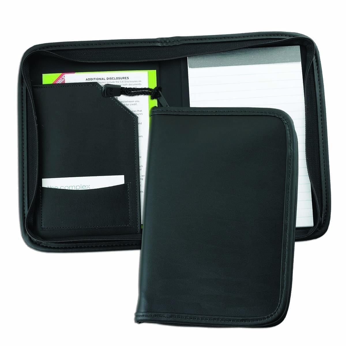 Leather Junior Zipper Folder