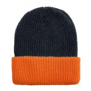 Union USA Made Winter Knit Contrast Cuff Hat, 99C244